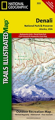 National Geographic Trails Illustrated Map Denali National Park and Preserve By Not Available